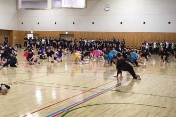 栃木県の高校ダンス部へのダンス講習会